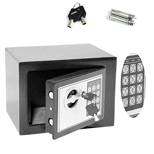 Electronic Home mini Safe box Digital Steel Money Cash Safe Key 4.6l, colore: grigio