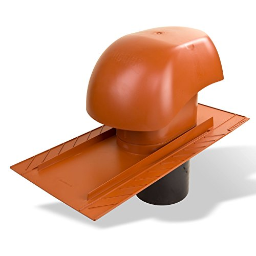 Klöber Venduct Lüfter-Set DN150 rot Biber Schiefer Universal Dachentlüftung Dachlüftung Dunstabzug KE0563-0100