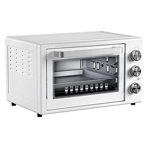 HKJZ SFLRW Encimera de Horno eléctrico, tamaño Compacto, fácil de controlar con Ajuste de Tostadas de horneado de Temporizador, 1500W, Blanco