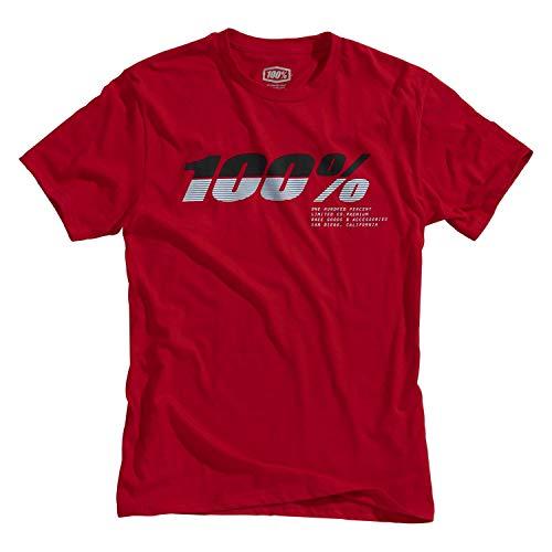 100% Bristol thee-shirt, volwassenen (rood, X-groot)