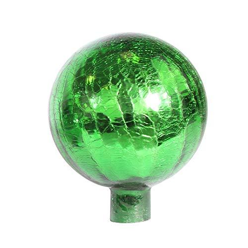 1PLUS Rosenkugeln Dekokugeln mit Unterschiedlichen Farben, Gartenkugeln für Den Garten als Schicke Gartendekoration - Deko Kugeln Glaskugeln (15 cm, Grün Kristall)