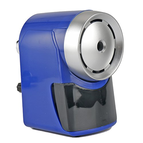 Pencil sharpener Manual Heavy Duty 5-levels sharpness Selector automatically roll-in and roll-out transformer pencil peeler GEiNNOVA (Blue)