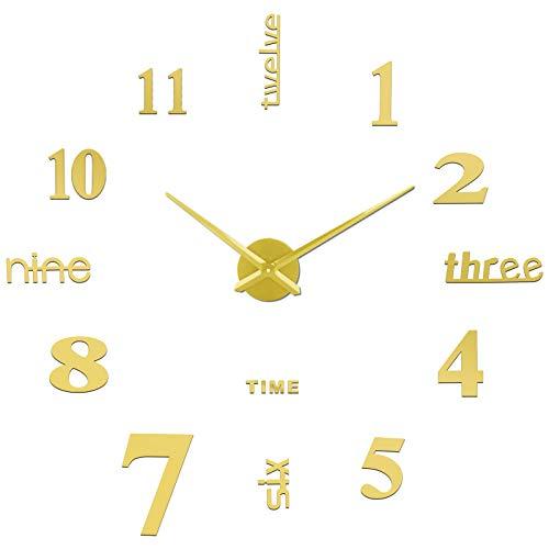 SOLEDI CL-07 Orologio da Parete Fai-da-Te, Facile da Montare, Design Moderno, Usato per Decorare La Parete Vuota, Come casa, Ufficio, Hotel