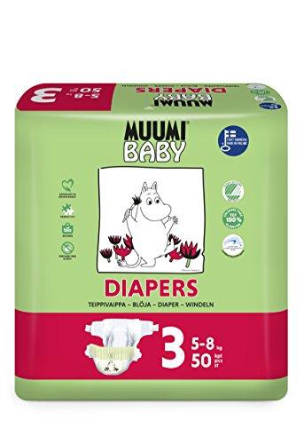Muumi Baby Premium Öko Windeln - Größe 3, 5-8kg, 50 Stück