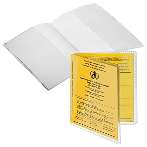 mtb more energy® 10x Hülle für Impfausweis Impfpass (Größe 13x9.3 cm, Ausstelldatum ab ca 2005) - aufklappbar - transparent, leicht mattiert - Impfpass Hülle Klarsichthülle Schutzhülle