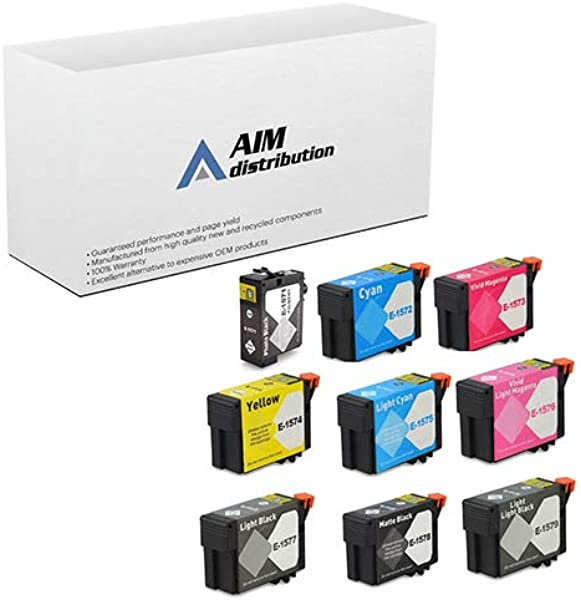 AIM Remanufactured Replacement For Stylus Photo R3000 Inkjet Combo Pack PBK C M Y LC LM LBK MBK LLBK NO 157 T157CMYLCLMPLMBLLBK US