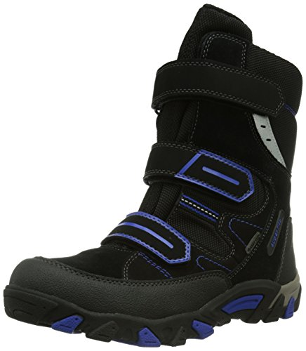 Superfit 30044 Mountain chłopięce buty zimowe z ciepłą wyściółką, czarny - Czarny czarny kombi 00 - 37 EU Weit