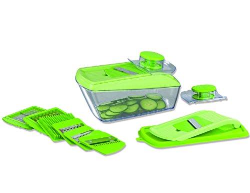 Gourmetmaxx 02212chop' N Slice Pro Gemüseschäler Kunststoff grün 29,5x 14x 13,5cm 15teilig