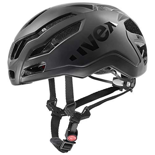Uvex Race 9 Casco de Bicicleta, Adultos Unisex, All Black Mat, 57-60 cm