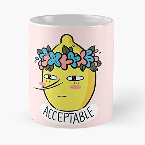 GrimDC Flowercrown Time Fanart Soft Lemon Kawaii Lemongrab Cute Adventure Taza de café con Leche 11 oz