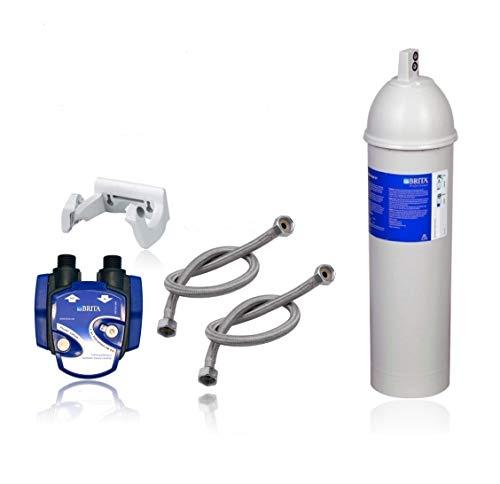 Filtro de agua para debajo del mueble: cabezal de filtro Brita Purity C300 Quell ST, manguera, soporte de pared, adaptador de válvula de esquina, indicador electrónico de cambio de filtro Digiflow