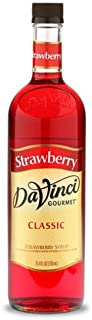 DaVinci Gourmet Classic Coffee Syrup, Strawberry, 25.4 Fluid Ounce (Pack of 4), Flavored Sweetener Syrup for Espresso Drinks, Tea, and Other Beverages, Suited for Home, Café, Restaurant, Coffee Shop
