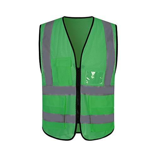Safety Vests DBL Chaleco reflectante de seguridad verde Ropa de trabajo de malla transpirable Viaje por la noche Chaleco de seguridad de alta visibilidad de seguridad chalecos de seguridad
