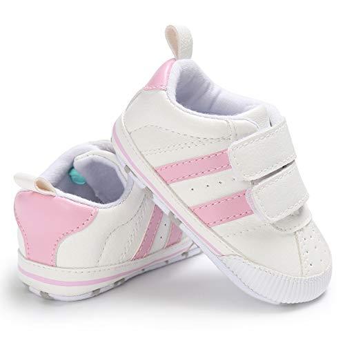 Zapatos Bebe NiñO NiñA Rojo Zapatillas De Deporte De Moda Zapatillas De Deporte para BebéS ReciéN Nacidos Zapatillas Deportivas para NiñOs, NiñAs, BebéS, Cordones (11(0 Meses-6 Meses), Style Rosado)