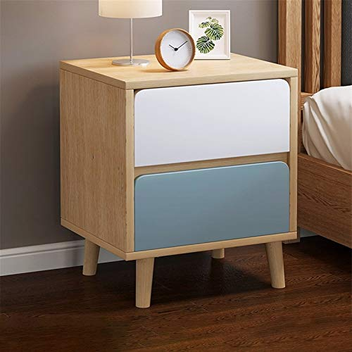 YYOBK 2-Drawers Nightstand,Wood Accent Table, End Table,Storage Lockers,Side Table, Night Stand, Bedside Table, Banquet Cabinets,Bedside Furniture For Home Bedroom Office College Dorm