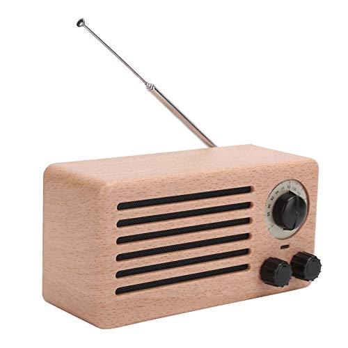 PUSOKEI Altavoz Bluetooth, Mini Altavoz Bluetooth Retro con Altavoces duales de Alta definición de frecuencia Completa, Subwoofer estéreo de Audio de Graves Radio FM(1)