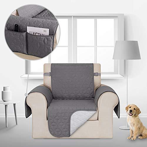 Deconovo Sofahusse Sofabezug Couch husse Sofaüberwurf 54x190 cm Hellgrau 1-Sitzer