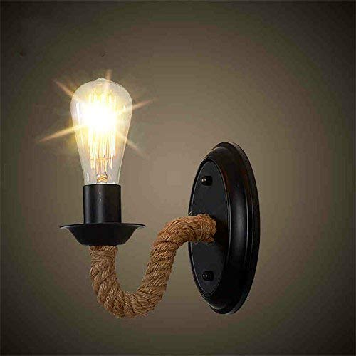 DenA Moderne Wandleuchte Loft Seilträger Wand Alte Retro A-E27 Lampe Lampe Design Beleuchtung Hall Küche mit Heimgebrauch,20 * 19 cm