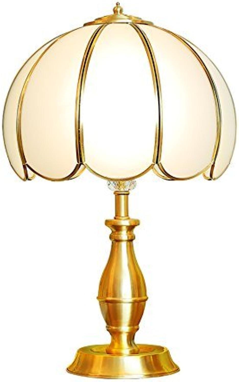 Gorkuor Tischlampe Kupfer Tischlampe, einfache Tischlampe kreative Kunst Tischlampe Nachttischlampe Villa Lampe Ehe Zimmer Elegante Tischlampe E27 Originalität (Größe  33  56 cm) B07JVL3D2G | Beliebte Empfehlung