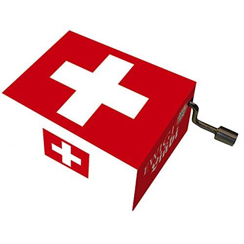 Fridolin 58457 Spieluhr Ewigi Liäbi / Schweizer Fahne