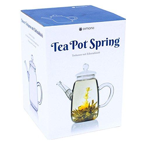 Teekanne aus Glas mit Teefilter klassische Tee-Filter Kanne 600ml von Dimono - 4