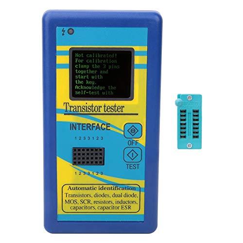 M328 Transistor Meter,Diode Triode Capacitance Meter Module Diode Resistor Meter,NPN PNP Transistor Diode Resistor Inductor Capacitance ESR Meter Transistor Capacitor Tester