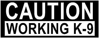 CAUTION WORKING K-9 Bumper Sticker (dog love police service canine)- Sticker Graphic Decal