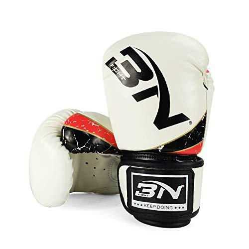 Boxhandschuhe Kinder 6oz Boxsack Handschuhe Boxbandagen 3 Bis 10 Jahre alt Muay Thai Taekwondo Sanda Fight Rot, Weiß, Blau