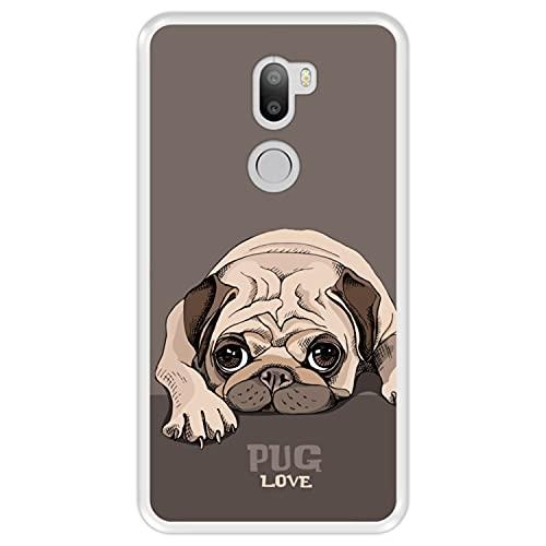 Hapdey Funda Transparente para [ Xiaomi Mi5s Plus - Mi 5s Plus ] diseño [ Pug Puppy Reposo, Pug Love ] Carcasa Silicona Flexible TPU