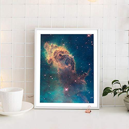 OLGKJ Universum Kunst Galaxie Poster Nebel Drucke Hubble Teleskop Raum Leinwand Malerei Wissenschaft Wandkunst Bild