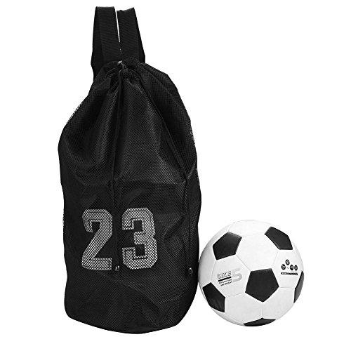 Zetiling Kordelzug Rucksack Tasche, Turnbeutel, Turnsack mit Schultergurt Leichter und Faltbarer Rucksack mit Ballnetz für alle Sportarten Fußballtasche Basketball Volleyball Baseball(#2)