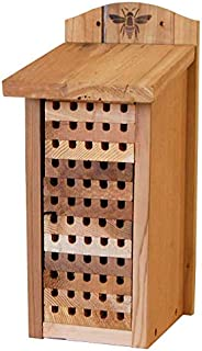 """Woodlink 28551 Heavy Duty Cedar Mason Bee, Large Insect House, 14"""" H, Wood"""