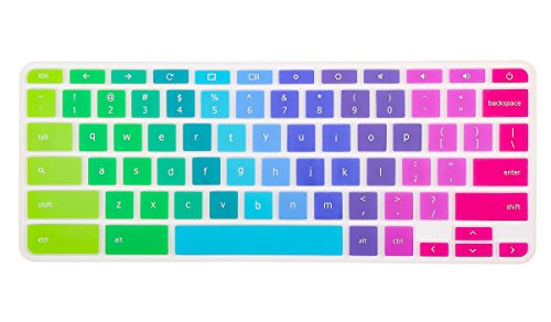 Keyboard Cover Skin Compatible Acer Chromebook R 11 CB5-132T CB3-131, Acer Chromebook R 13 CB5-312T,Acer Premium R11, Acer Chromebook 14 CB3-431 CP5-471,Acer Chromebook 15 CB3-531 CB5-571 C910,Rainbow