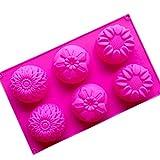 Romote Sonnenblume Form Silikon-Kälchen-Mold Cake Decoration Tools Blumenformen Handgemachte Seife...