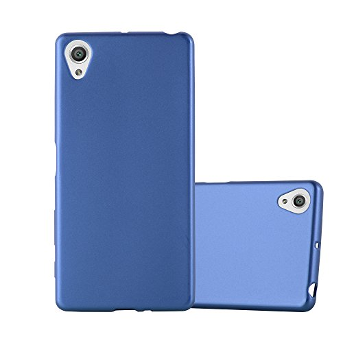 Cadorabo Funda para Sony Xperia X en Metallic Azul - Cubierta Proteccíon de Silicona TPU Delgada e Flexible con Antichoque - Gel Case Cover Carcasa Ligera