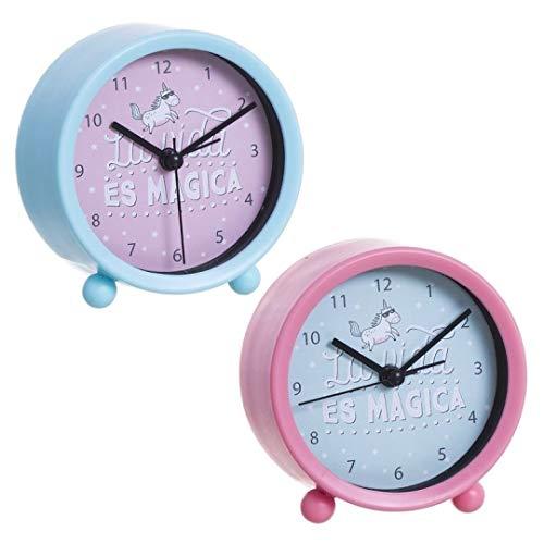 Reloj Despertador Unicornio 2C (12/24-36,9,4X4X9,5 CM, 2 Colores, 1 a Elegir