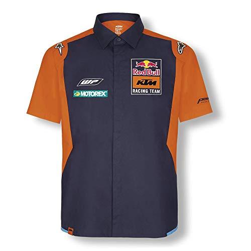 Red Bull KTM Official Teamline Camisa, Azul Hombres X-Large Camisa Manga Larga,...
