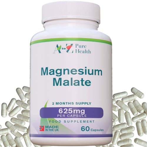 Magnesium Malate Capsules   High Absorption, Premium Magnesium Malate 625mg...