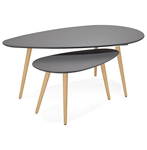 Alterego - Tables gigognes Design 'TETRYS' Grises foncées