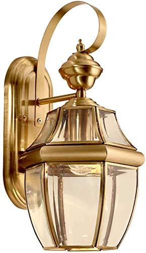 MEIXIAN Moderne retro-wandlamp, rustieke wandlamp glaskleur alle brons E27 voor indoor-hal slaapkamer verlichtingssmall 18 * 33 cm eenvoudig retro