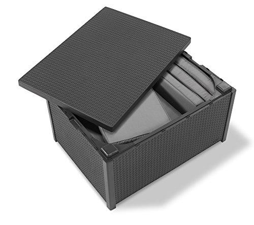 Allibert Tisch Arica | Gartenbox | Aufbewahrungsbox | Grau - 5
