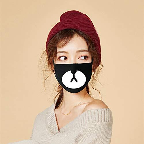 Mujer linda de la moda hombres Baja HalfMask Panda máscara de oso MouthDance Máscara de días festivos Prop