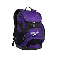 Open weave mesh for strength and quick drying Classic shaped Speedo mesh bag with new styling and improved materials Shoulder straps for backpack carry Pockets: 1 interior slip, 4 exterior;Includes additional bag