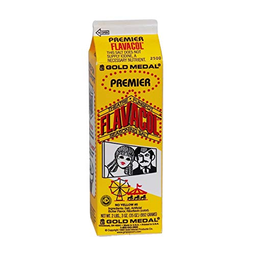 Individual Cartons Premier Flavacol Popcorn Seasoning Salt by Gold Medal