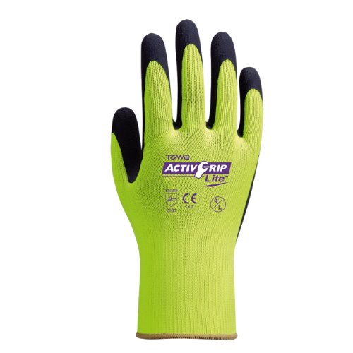 TOWA Active Grip Lite mit MicroFinish® Latexbeschichtung, EN 388, 1 Paar, Größe 10