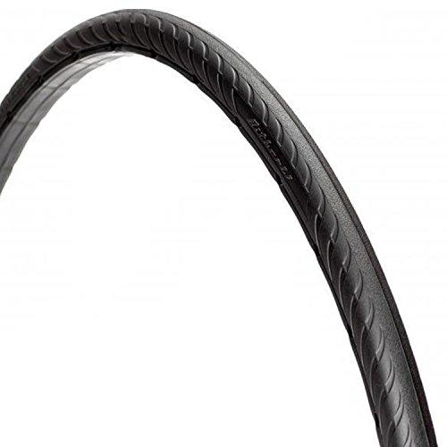 Tannus 700 x 25C, High-Tech-Polymer - Reifen, ohne Luft' solid Fixie Singlespeed Reifen Aither 1.1, Farbe:Schwarz