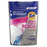 Tide Bright + Whites Rescue In-wash Laundry Booster Pacs, 27Count (Packaging May Vary)