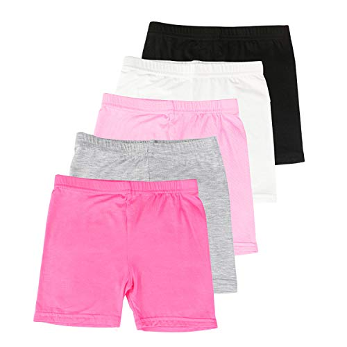 BOOPH Girls Dance Shorts Bike Short for Underdress 7-8 Years Multicolor 5 Pack
