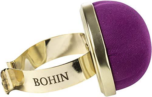 Bohin COJÍN PIN, PULSERA METAL - Morado, 1, tamaño único