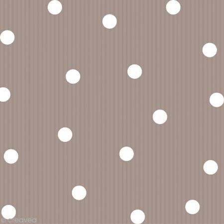 Papier-Servietten Dots/Streifen/taupe